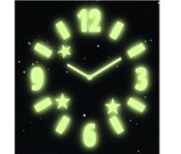 Glow-in-the-Dark Moon Gel Window Clock