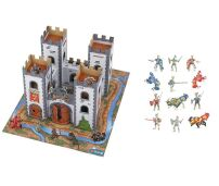 Mini Medieval Castle & Red Knights Figure Set