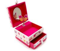 Pink Poppy Musical Jewellery Box