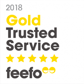 Gold Feefo rating