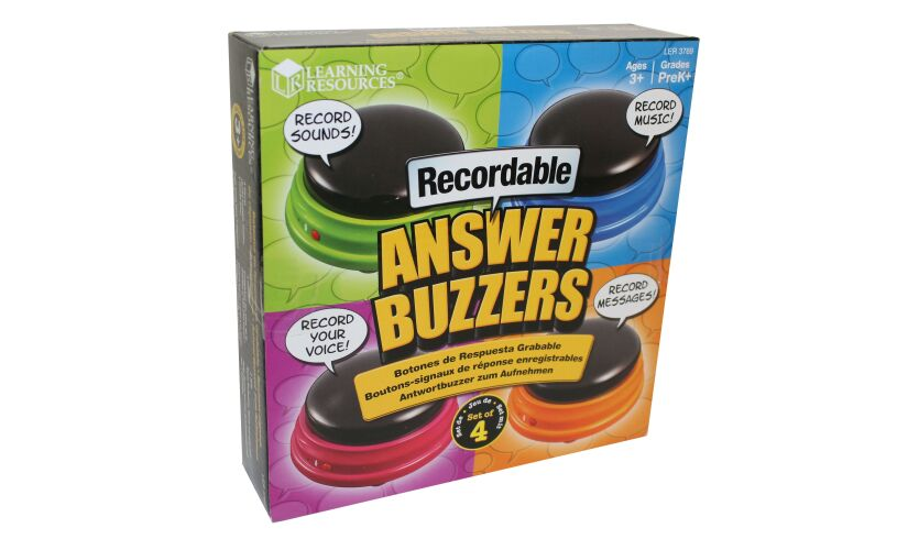 Recordable Answer Buzzers Packaging