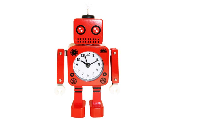 Robot Alarm Clock - Red