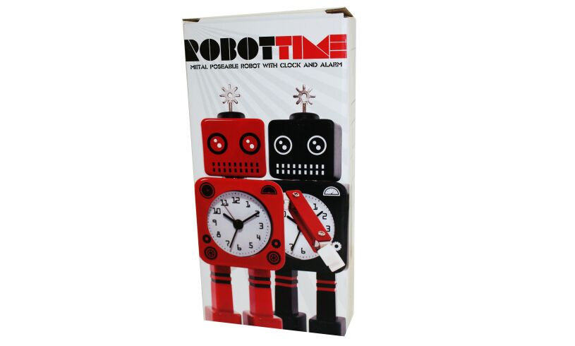 Robot Alarm Clock - Red - Box