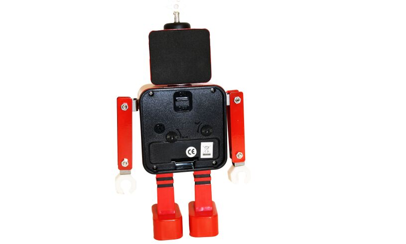 Robot Alarm Clock - Red - Back