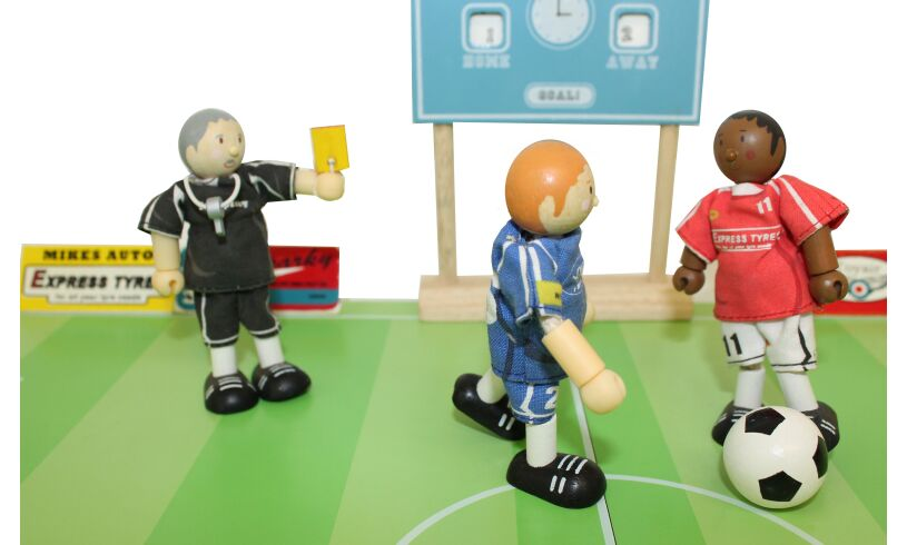Wooden Football Referee