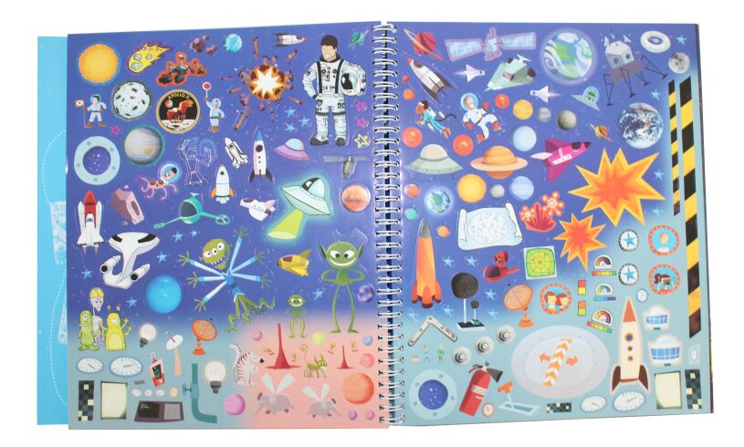 Space Creativity Book Stickers