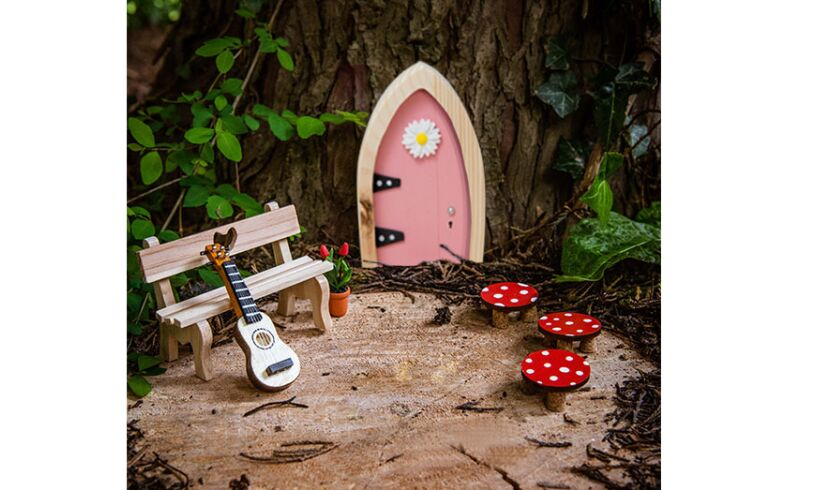 Magical wooden fairy door believe brilliant childrens for Fairy door with key