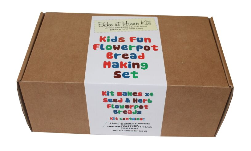 Fun Flowerpot Bread Making Set Packaging