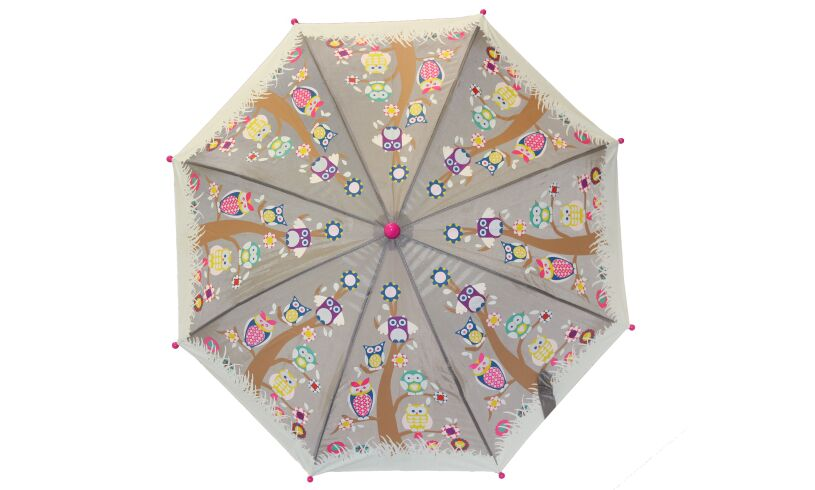 Owl Umbrella Open