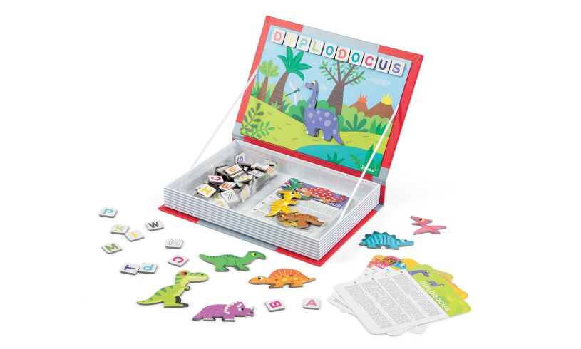Dinosaurs Magnetibook with Letters