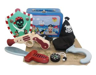 Wooden Pirate Set - Mini Kit in a Tin