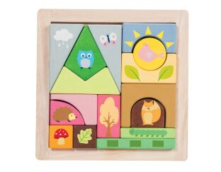 Woodland Puzzle Blocks - Wooden