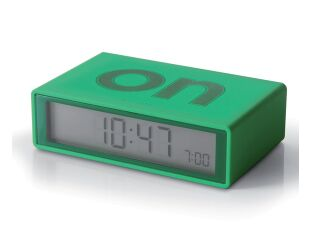 GREEN Flip Alarm Clock - Make Life Easy!