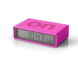 PINK Flip Alarm Clock - Make Life Easy!