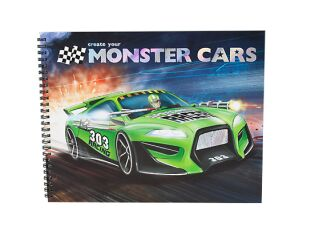 Monster Cars Colouring & Sticker Book