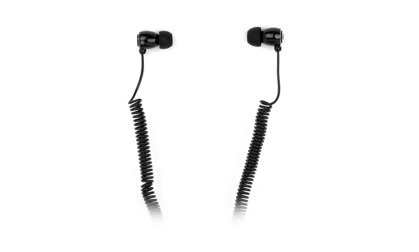 Black Bungee Earphones Close Up