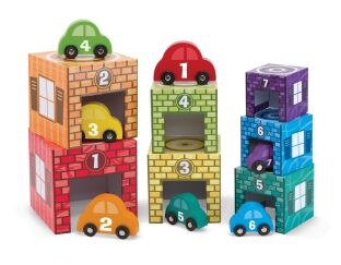 Nesting & Sorting - Garages & Cars Set