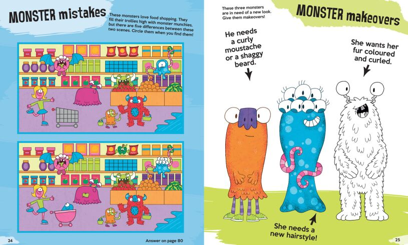 The Monster Creativity Book make overs