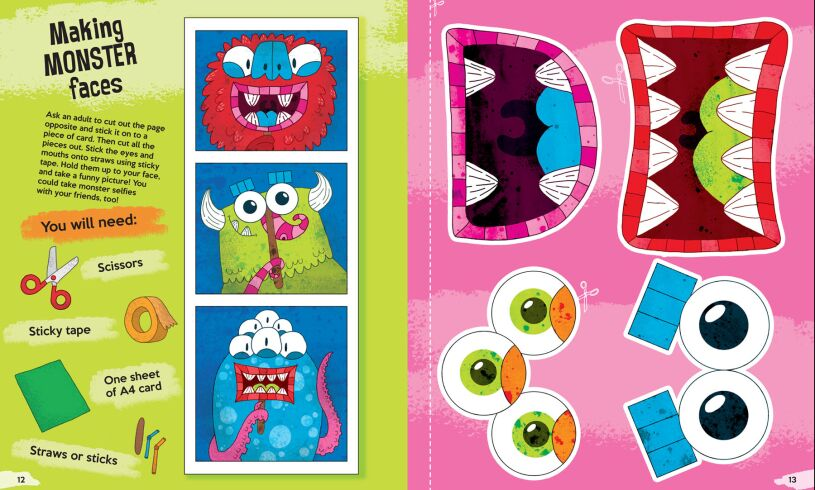The Monster Creativity Book mask