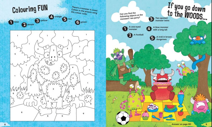 The Monster Creativity Book colouring