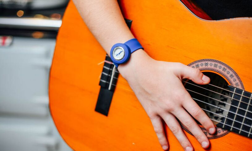 Blue Slappie Watch guitar