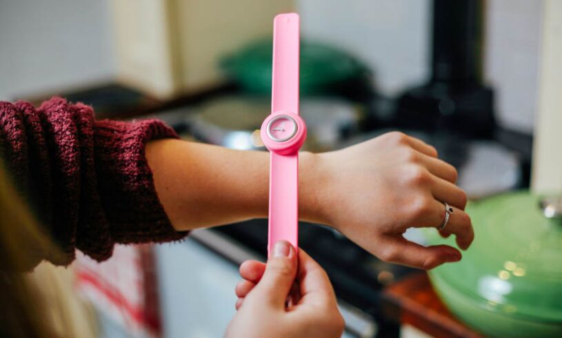 Neon Pink Slappie Watch slapping
