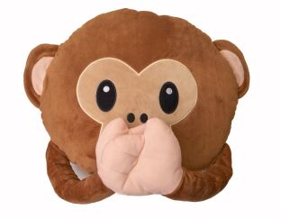 Monkey Emoji Cushion Speak