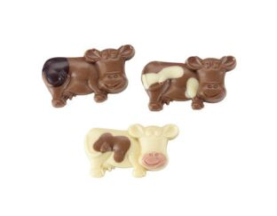 Strawberry Chocolate Cows - Real Strawberry