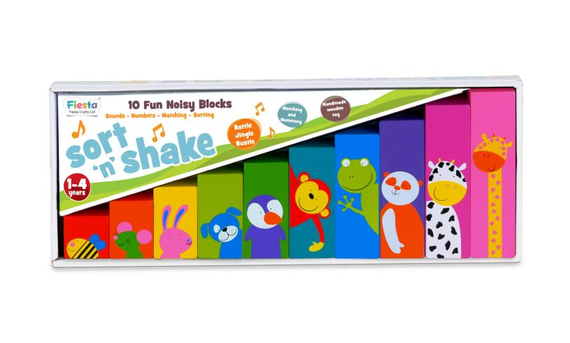 Sort 'n' Shake Noisy Block Set Packaging