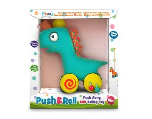 Fiesta Crafts Dinosaur Push & Roll