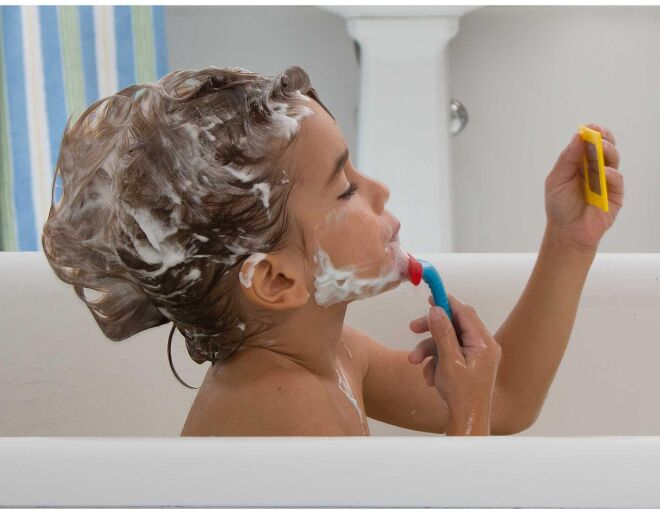 Alex Brands Shaving in the Tub Lifestyle