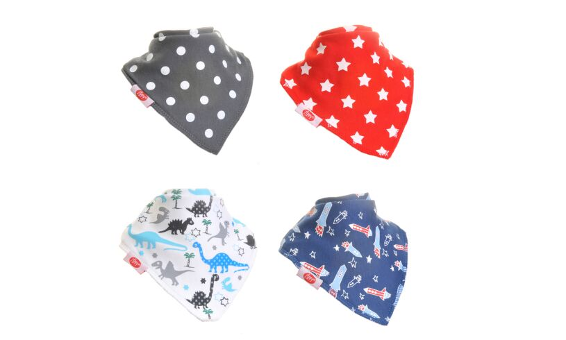 Ziggle Fun Bandana Bibs - BLUES