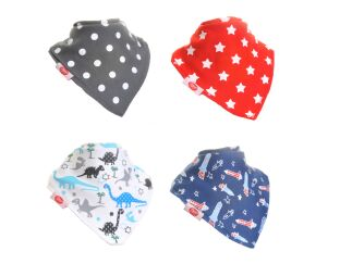 Zippy Fun Bandana Bibs - BLUES