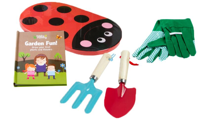 Garden tools book set little hands boys aged 3 for Gardening tools for 6 year old