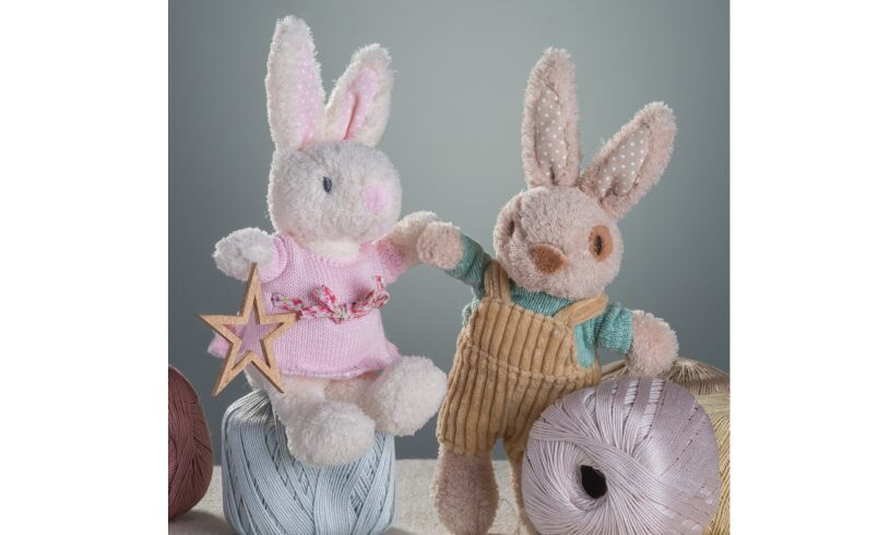 Ragtales Fifi and Alfie Baby Rattles Lifestyle