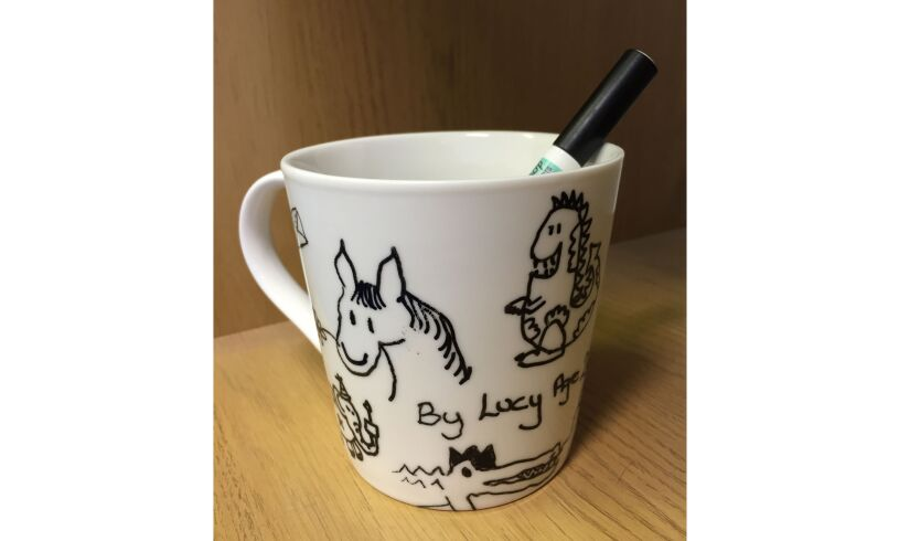 Eat Sleep Doodle your own mug