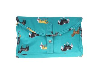 Milly Green Horse Print Folding Wash Bag