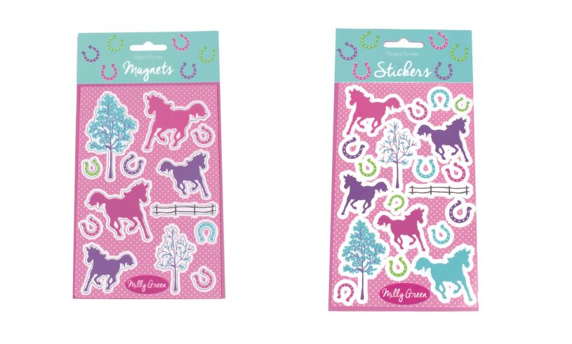 Milly Green Playful Ponies Stationery Set