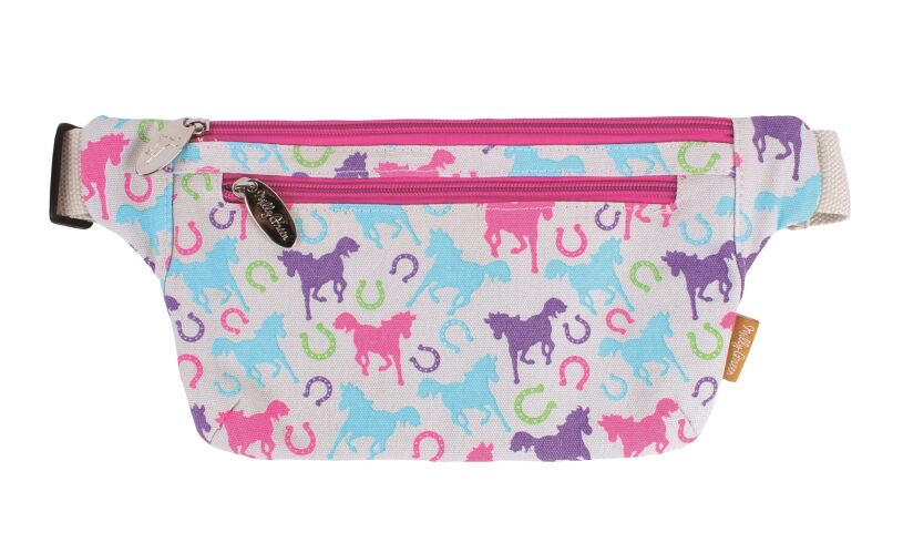 Milly Green Playful Ponies Bum Bag