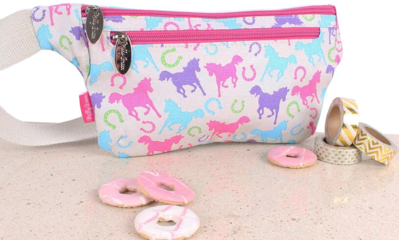 Milly Green Playful Ponies Bum Bag Lifestyle