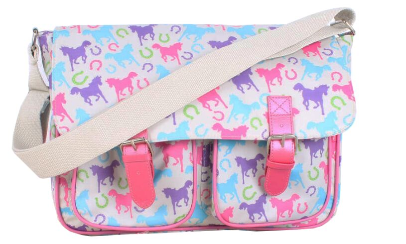 Playful Ponies Satchel - Milly Green