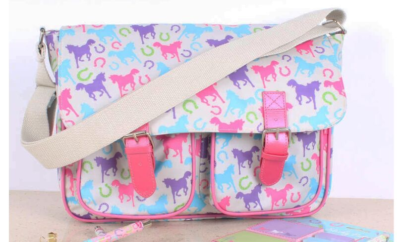 Playful Ponies Satchel Milly Green