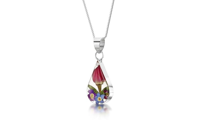 Mini Teardrop Flower Pendant