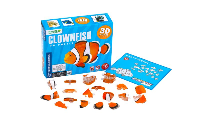 Thames and Kosmos Clownfish 3D Puzzle Contents