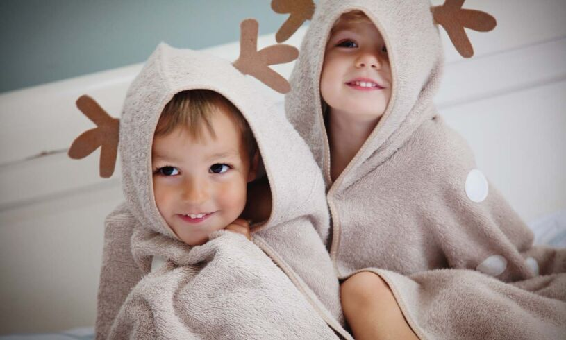 Cuddledry cuddledeer toddler bath towel Lifestyle