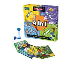 Greenboard games 4 in 1 Brainbox - Cities, Space, Sport & Nature