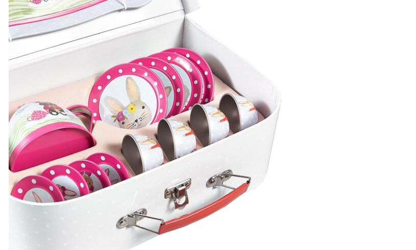 Floss and rock Bunny Tea Set Contents