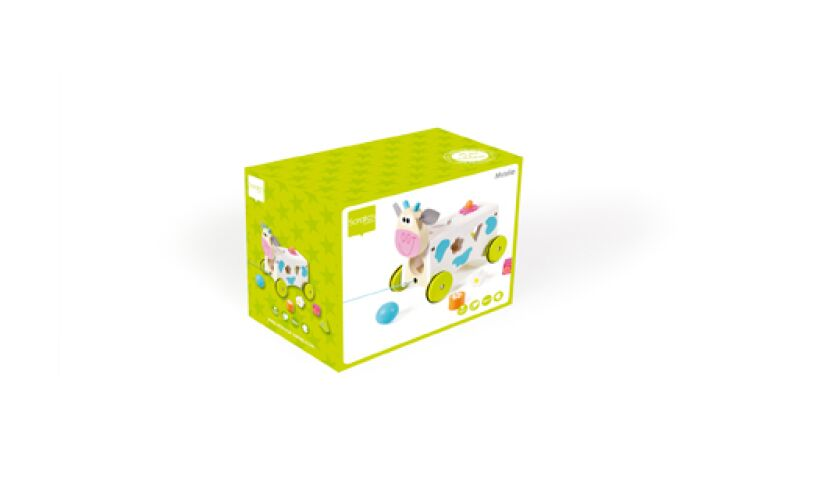 Scratch Europe Marie Cow Activity Wagon Box