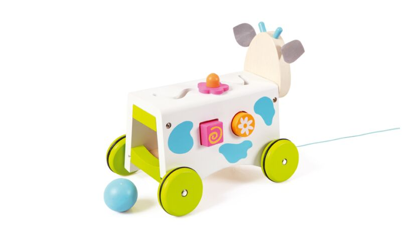 Scratch Europe Cow Activity Wagon