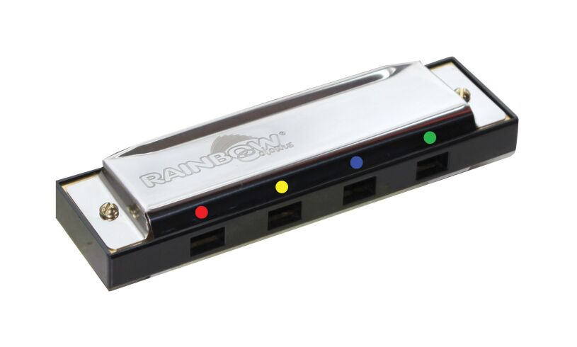 Rainbow Colours Harmonica
